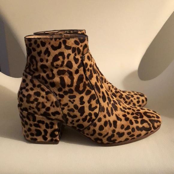 Steve Madden Leopard Block Heel Bootie